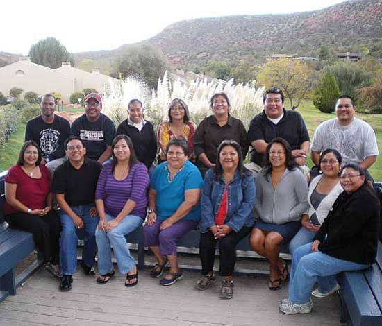 <i>Courtesy photo</i><br> The Hopi Foundation Hopi leadership program class of 2008-2009.