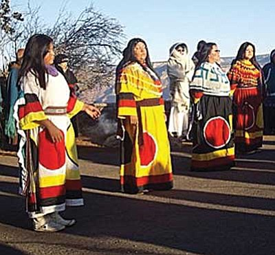 <i>Submitted photo</i><br> Members of the Havasupai Tribe welcomed the 13 Indigenous Women delegation Dec. 2.