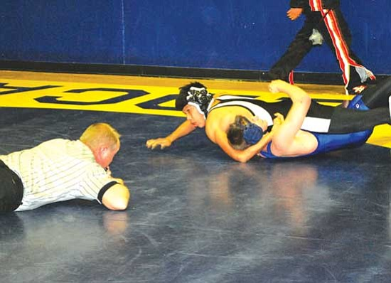 Kevin Tso goes for the fall during one of his matches.