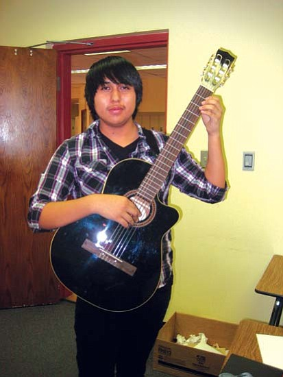 """<i>Stan Bindell/NHO</i><br> Malcolm Mowa, a junior at Hopi High School, recently had his composition entitled """"Aerial Ice"""" performed on National Public Radio."""