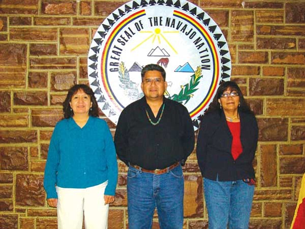 <i>Courtesy photo</i><br> Kayenta Chapter officials recently celebrated the lifting of sanctions imposed against them in 2004 following an audit of their financial records. Sanctions were imposed against the chapter due to the lack of an appropriate fiscal management system as required by the Navajo Nation.