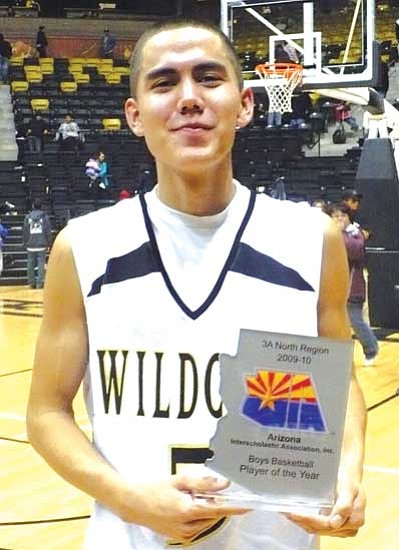 <i>Anton Wero/NHO</i><br> Koyai Clauschee (5) of the Chinle Wildcats was voted the 2009-2010 Player of the Year for the Arizona 3A Boys North Region.