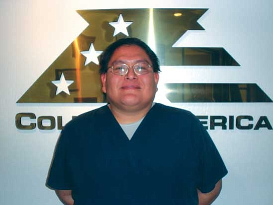 "<i>Courtesy photo</i><br> Lee Sakiestewa of Tuba City described his most rewarding experience at CollegeAmerica as ""meeting people and forming long-lasting relationships."""