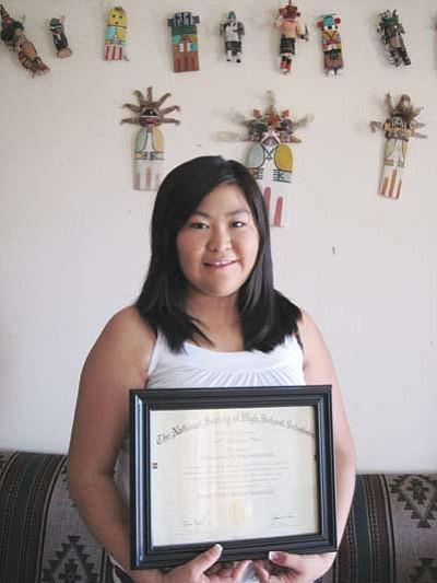 Charnal Talashoma, National Society of High School Scholars award winner.