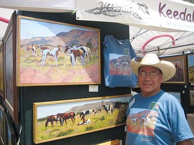 <i>Stan Bindell/NHO</i><br> Featured artist Randy Keedah specializes in two-dimensional Western, American Indian and Southwestern fine art. He has won numerous awards for his finely detailed paintings.