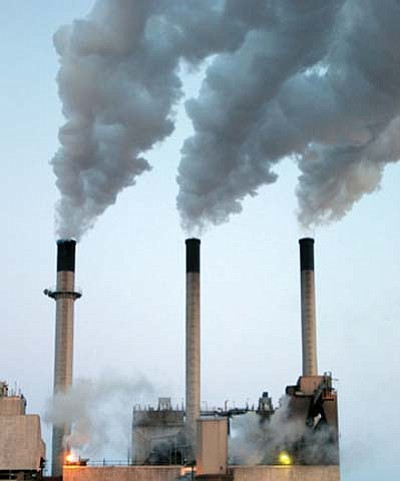 <i>USGS photo</i><br> Coal-fired power plants emit billions of tons of toxic carbon dioxide (CO2) into the atmosphere each year. The Hopi Tribe recently approved exploratory drilling to potentially allow a controversial new method called Carbon Capture Sequestration (CCS) to store CO2 produced by nearby power plants underground on Hopi lands.