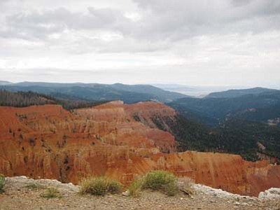<i>Stan Bindell/NHO</i><br> A scenic view of the Cedar Breaks National Monument's natural amphitheater.