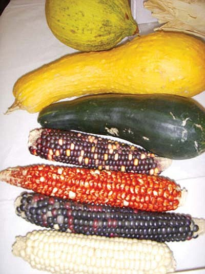 <i>Photo courtesy of the Hopi Foundation</i><br> Dried corn, squash and melons