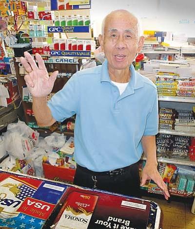 <i>Todd Roth/NHO</i><br> Winslow business owner, Ernie Seto.