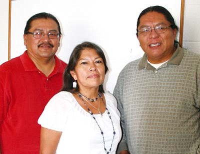 <i>Courtesy photo</i><br> Hopi Substance Abuse Prevention Center staff members Kevin Nash, Rachel Povatah and Tyler Tawahongva.