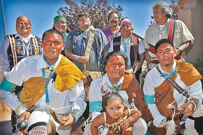 <i>Todd Roth/NHO</i><br> The Paayuvi Dance Group from Hopi performed for the annual Suvoyuki Days held in Winslow on Sept. 11.