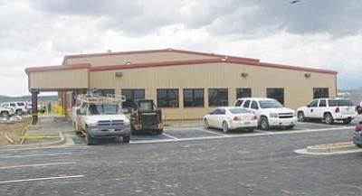 <i>Courtesy photo</i><br> The exterior of the new Navajo DOT road yard in Pinon.