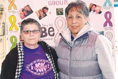 <i>Todd Roth/NHO</i><br> The two main organizers of this year's Cancer Walk were fellow cancer survivors Sophia Salazar and Petra Velez.