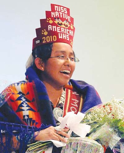 <i>Todd Roth/NHO</i><br> Felecia Gene, Miss Native American Winslow High School 2010-2011.