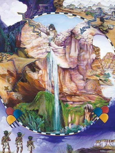 Zuni map art-Illustrating cultural memory | Navajo-Hopi ...