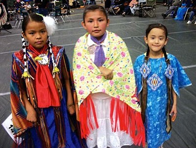 <i>Tyler Tawahongva/NHO</i><br> Several powwow princesses participated in the Sixth Annual Sobriety Powwow held in Tuba City over the weekend
