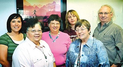 <b>Winslow Arts Council members</b> (from left to right): April Neill, Marci Heavrin, Janet Fish, Rachael Metzger, Sarah Smithson and Todd Roth.