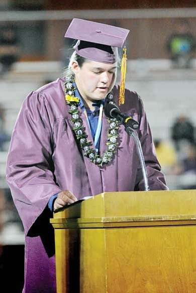 """Todd Roth/NHO<br> David Aberle gives the """"welcome address"""" in the Navajo language."""