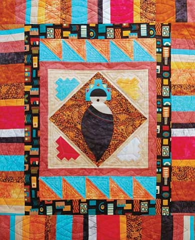 Photo/Michele Mountain © 2010 MNA<br> Hopi quilt by Donna Hometewa.