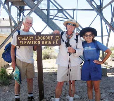 Stan Bindell/NHO<br> Flagstaff hikers proud to make it to the top. From left, Dave Healey, Jack Johnson and Betsy Snow.