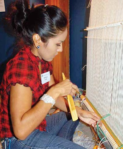 Submitted Photo<br> Award-winning contemporary weaver Melissa Cody at last year's Navajo Festival
