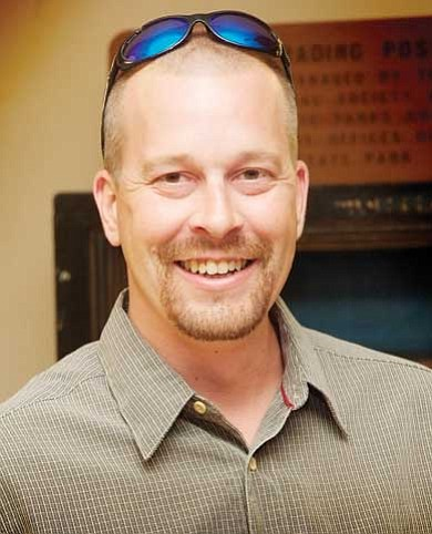 Todd Roth/NHO<br> Forest Service Archaeologist Jason McInteer spoke at the Homolovi Club July 21.