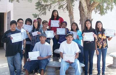 Submitted photo<br> Pictured are the 2011 youth attendees showing off their certificates