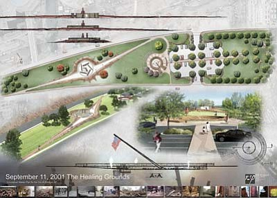 Submitted Photo<br> The above plans show what the memorial will look like when it is finally completed.