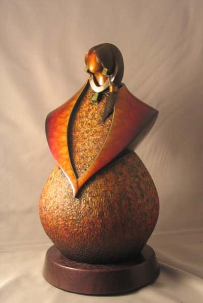 Submitted Photo<br> Tewa Woman sculpture by Kim Obrzut.