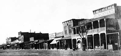 Submitted photo<br>  A view of Front (now First) Street in 1912, which was the heart of Winslow at the time Arizona statehood was granted.