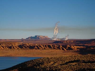 Rosanda Suetopka Thayer/NHO<br> A far off view of the Navajo Generating Station shows the possible pollutants rising into the air.