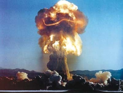 Submitted Photo<br> Shown is one of the nuclear tests that exposed people from three states to radiation.