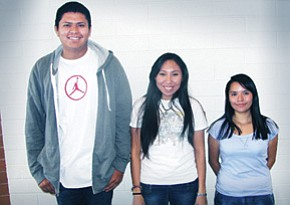 Gates scholarship recipients from left include Al Ray Marianol, Tatianna Clyde and Fatima Molino.