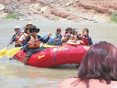 Native Summer Teen Guide in Training Pilot Program 2012 group members maneuver currents on the San Juan River June 5. Submitted photo