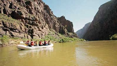 Rafting the Colorado River. <i>Photo courtesy of the Redford Center</i>