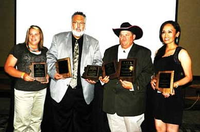 Pictured from left are Elissa McBride, Harry Martin, Clyde McBride and Kim Yazzie. Submitted photo