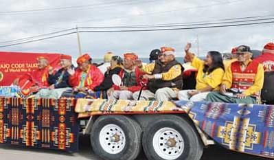 Navajo Code Talkers ride in a previous Navajo Nation Fair parade. Photo/Roberta John