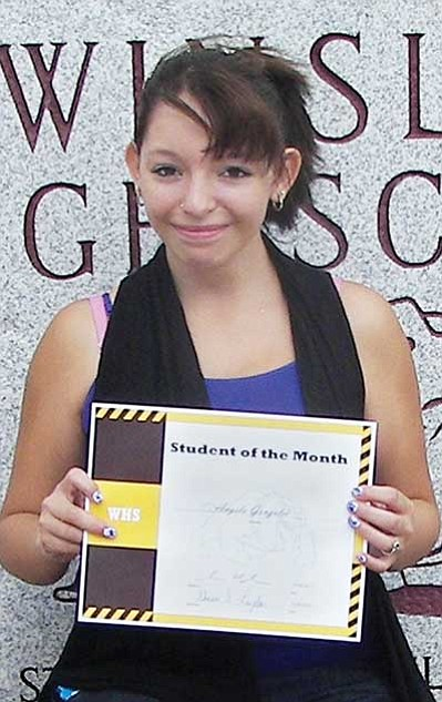 Angela Gonzales is the August Student of the Month.