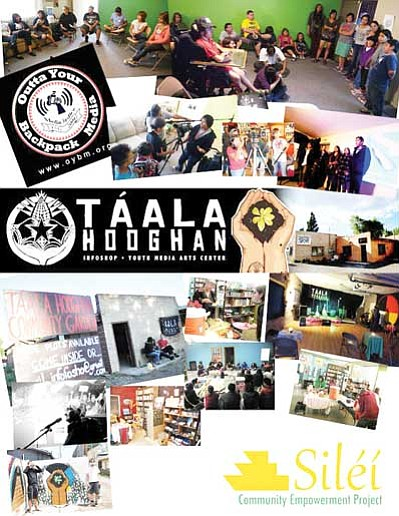 Outta Your Backpack Media and Táala Hooghan Infoshop are working with a new non-profit group known as Siléí Community Empowerment Project to acquire a 4,500-square foot building to serve as a community center. Submitted photo