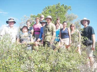 A group of Sierra Club hikers at the top of Guthrie Mountain. <i>Stan Bindell/NHO</i>