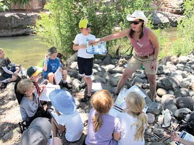 Children take part in the Museum of Northern Arizona's Discovery summer program. Photo/Marci Wills