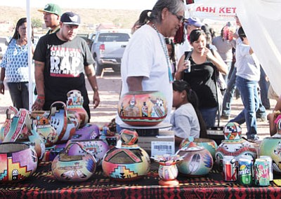 Art vendors from Hopi, Navajo and other tribes sell authentic Native art in all forms. Photo/Rosanda Suetopka Thayer