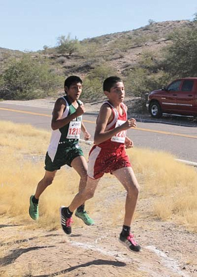 Jaiden Melendez and Vaughn Jackson take a commanding lead. Submitted photo