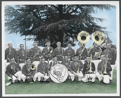 Santa Fe All Indian Marching Band members pose for a picture in Winslow sometime in the mid-1950s. Submitted photo<br /><br /><!-- 1upcrlf2 -->