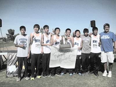 The 2012 Hopi High boys cross country team. The team won a record 23rd state championship Nov. 3. Submitted photo