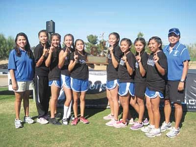 The Hopi high girls team. The team won their sixth straight state championship Nov. 3. Submitted photo