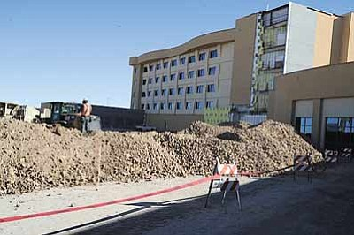 Crews continue work on Twin Arrows Casino 20 miles east of Flagstaff, Ariz. Gaming officials expect the casino to open in May. Submitted photo