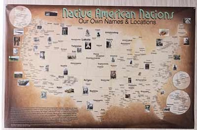 New Map Documents Tribes Across US Circa NavajoHopi - Map of us with native american tribes north america