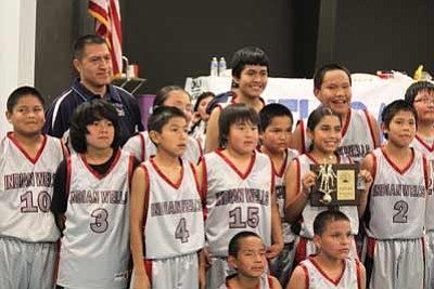 The Indian Wells Roadrunners celebrate their Nava-Hopi Area Junior High League championship victory Feb. 13. Submitted photo