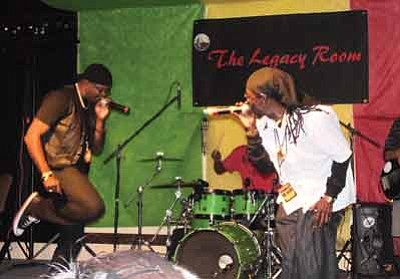 Michigan and Smiley, 70s Jamaican night club dance kings, headline at the Legacy Inn in Moencopi, Ariz. April 6. Photo/Rosanda Suetopka Thayer